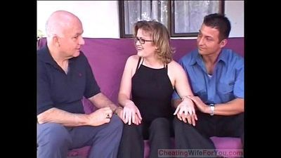 Hot wife get two big dicks - 7 min
