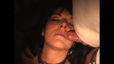 Slave wife gangbanged in adult theater - 3 min