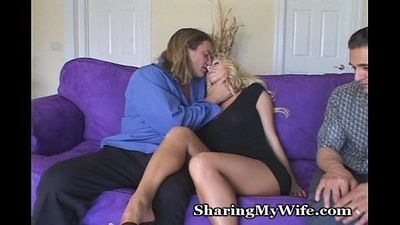 Sissy Hubby Shares Hot Wife - 5 min