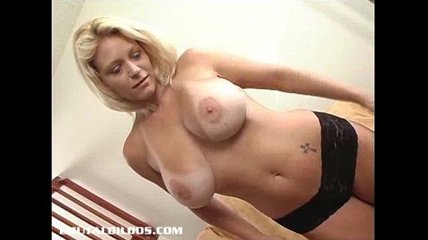 Hot chick Charlie fucking a brutal dildo