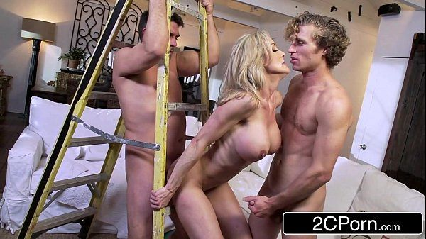 Busty Wife Brandi Love Sucking and Fucking Two Construction ContractorsHD