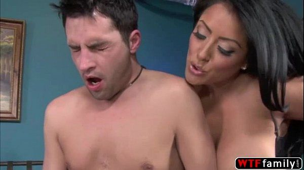 Handsome dude Kris Slater enjoys banging her GF and licked stepmom pussy