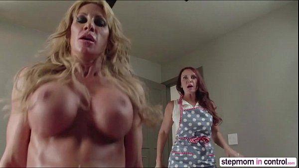 Horny MILF Farrah Dahl and Janet Mason gets fuck hard by a lucky guy