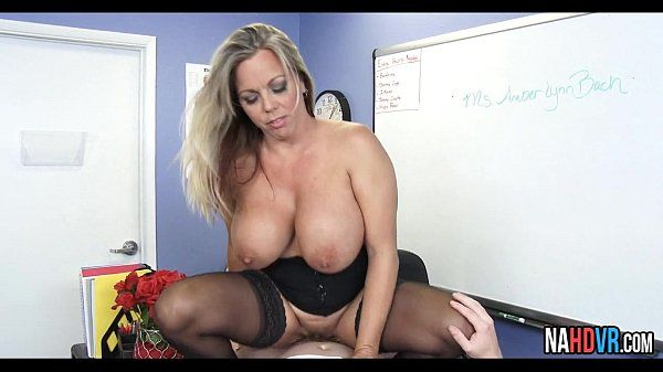 Extra Credit With Big Tits Busty Teacher Amber Lynn BachHD