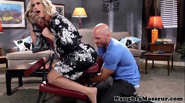 Massaged milf Simone Sonay swallows cumHD