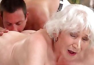 Old mom Norma enjoys sex after massage 6 min HD