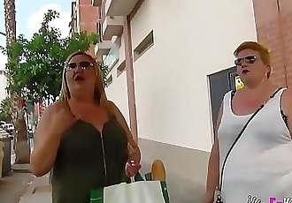 The Spanish Mommies also want to do porn. BBW Blonde Mature Threesome 46 min HD