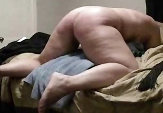 Hard spanking my stupid submissive bitch. Home made - 1 min 20 sec