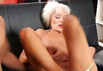 Granny Gets Hardcore Anal on Her 60th Anniversary 9 min