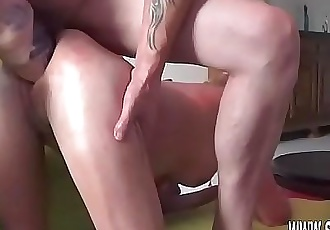 Double fisting and dildo fucking her holes 6 min