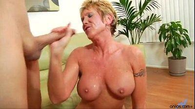 Older granny takes hard pounding - 3 min