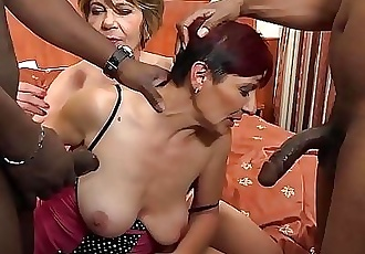 Time for grannies to experiment interracial anal sex and double ass fuck 22 min HD+