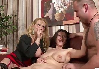Bisexual german sluts fucking in threesomeHD