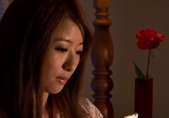 Mature Japanese in pyjama pleasures self - 8 min HD