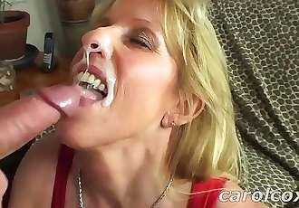 Carol Cox Sucks And Swallows A Nice Young Cock