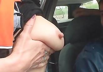 Old blonde woman double penetration in the fields 6 min 1080p