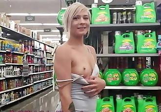Tiny Teen Public Nudity at Walmart 79 sec
