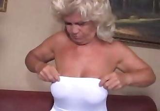 Granny Screames In Pain While She Fucks Young Cock 8 min 720p