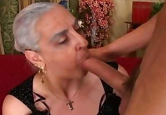 Granny First Huge Cock Anal 7 min