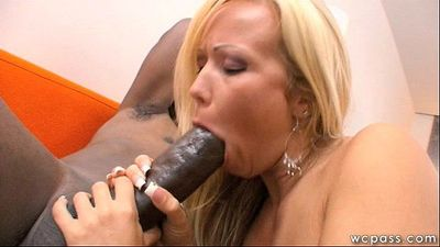 Blonde MILF Loves Big Black Cock - 7 min