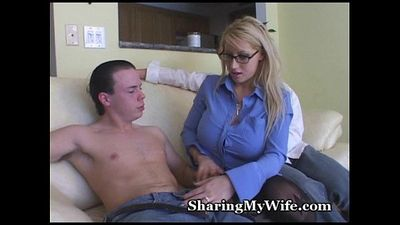 Busty Blonde Mommy Shared With Buddy - 5 min