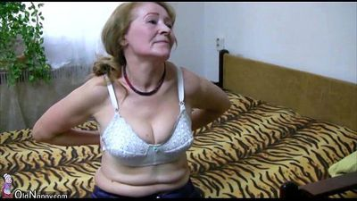 OldNanny Old granny is playing with young man and sextoy - 8 min HD