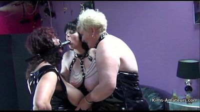 Busty British matures in PVC - 3 min HD