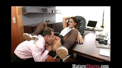 Milf is a real office slut - 5 min