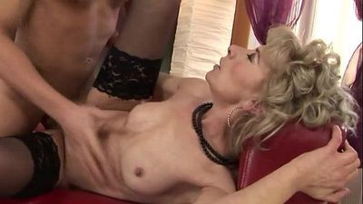 Blonde petite GILF mature fucked hard - 6 min