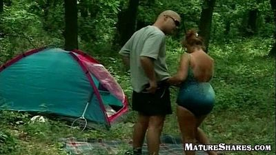 Fat Horny Granny Outdoor Fuck - 9 min
