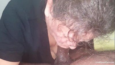 White granny takes BBC and creampie - 8 min