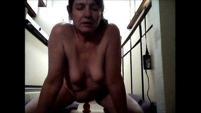 Me 53 years old riding dildo on kitchen floor - 7 min