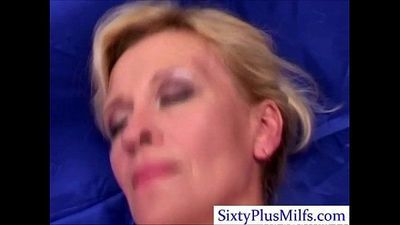 Kinky sexy mature lady in 3some - 5 min