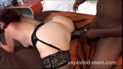 old granny gets fucked by a big black cock - 5 min