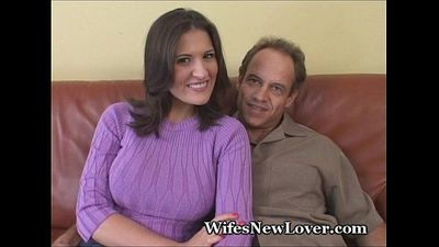 Wife Shows Wimpy Hubby Her New Lover - 3 min
