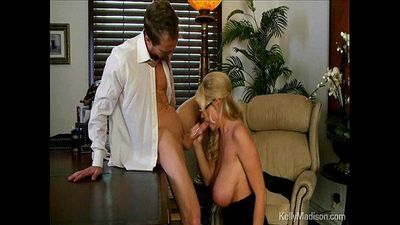 Busty Boss Sucks Cock In Her Office - 4 min