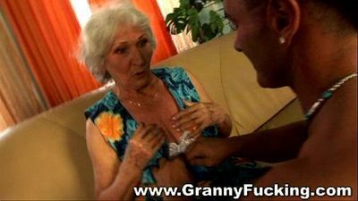 Mature granny getting fucked by a large cock - 3 min