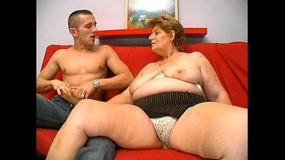 Mature fat granny hungry skin head young man sex - 4 min