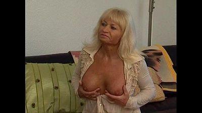 Sexy Mature Granny Blonde Hot Fucking Sex - 4 min