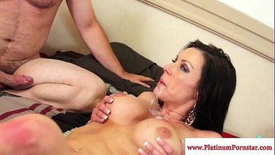 Kendra Lust gets a mouthful of cumHD