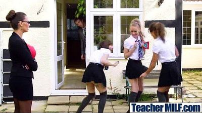 (sensual jane) Busty Teacher Bang In Hot Sex Scene With Student video-27