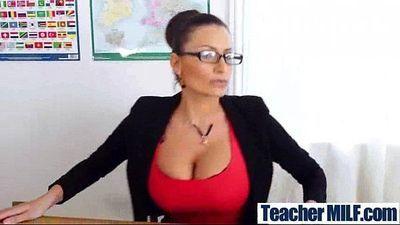 Hot Sex Scene Between Student And Big Round Tits Teacher (sensual jane) clip-26
