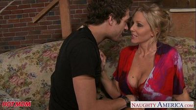 Beauty mom Julia Ann gets big tits jizzedHD