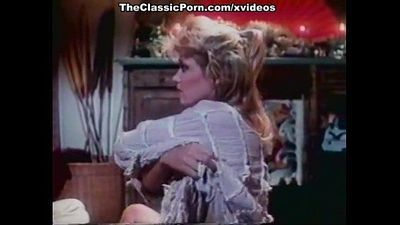 Ginger Lynn Allen, Traci, Tom Byron in classic porn scene
