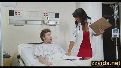 Horny nurse Lezley Zen fucked hard