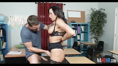 Hot Brunette MILF In Stocking Sucks And Fucks Cock Lezley ZenHD