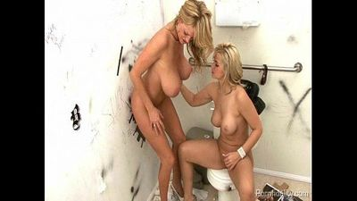 Sarah Vandella and Kelly Madison Go Gloryholing