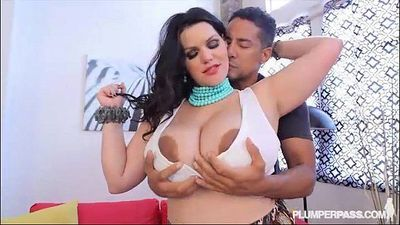 Plump Busty Latina Pornstar Angelina Castro Fucks a Fan, - 2 min