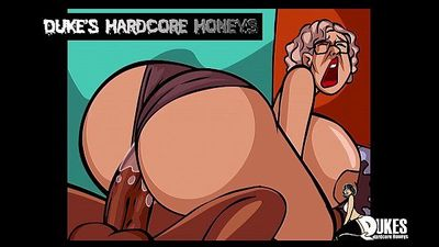 Thick Ass Granny Fucked by Big Black Cock! - 45 sec