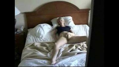 My mum masturbating caught by hidden cam on the closet - 2 min